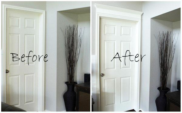 Dekoracyjne obramowanie drzwi