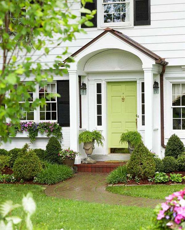 Odrębny kolor drzwi wejściowych