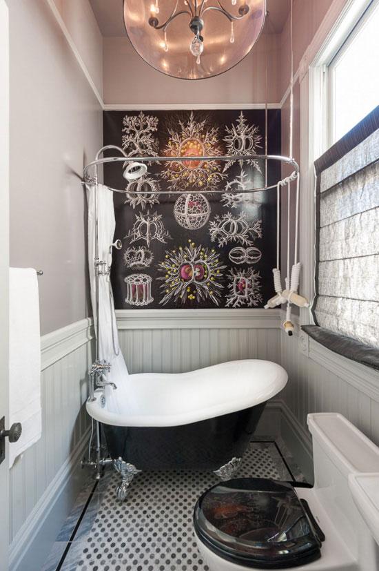 Aran acja azienki boazeria angielska for Funky bathroom wallpaper ideas