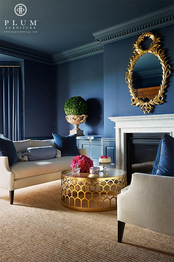 Błękitne ściany i sufit