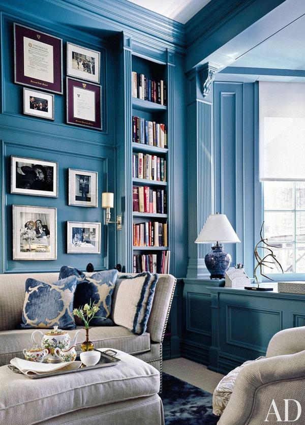 Jasno błękitny pokój