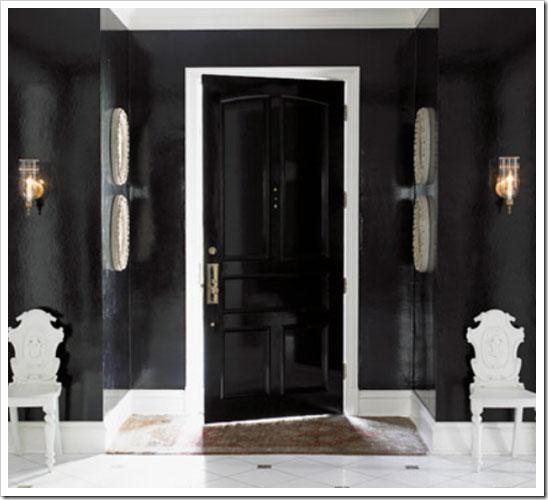 Stylistyka wnętrza biało czarna