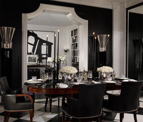 Stylistyka wnętrza czarno biała