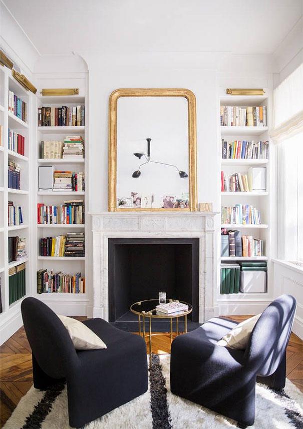 Biblioteka w klasycznym i eleganckim stylu