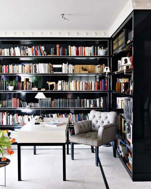 Nowoczesna stylistyka domowej biblioteki