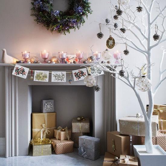 Opakowania z prezentów jako ozdoby świąteczne