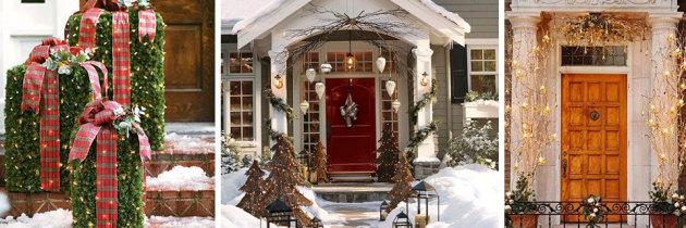 Świąteczne dekorowanie wejścia