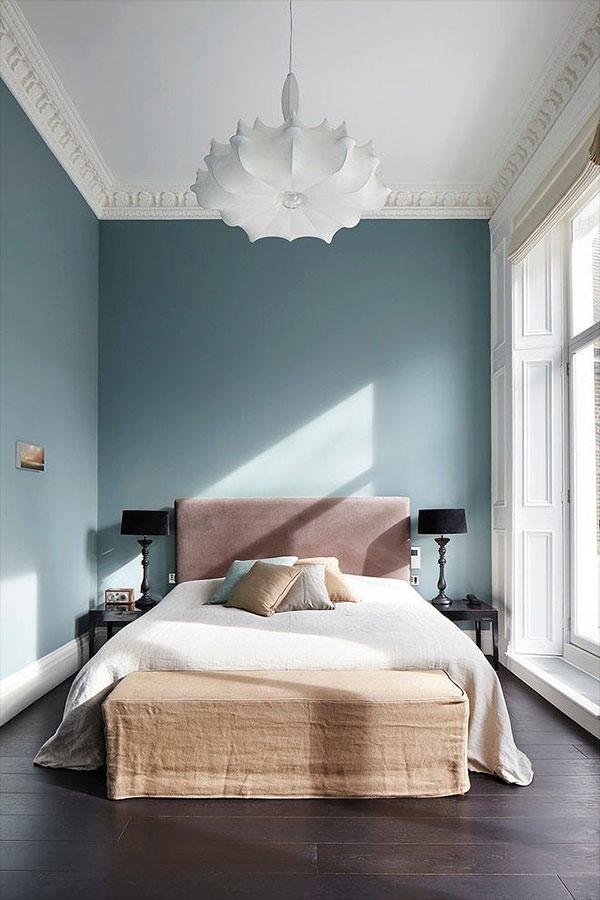 Tapicerowane zagłówki stanowiące element łóżka