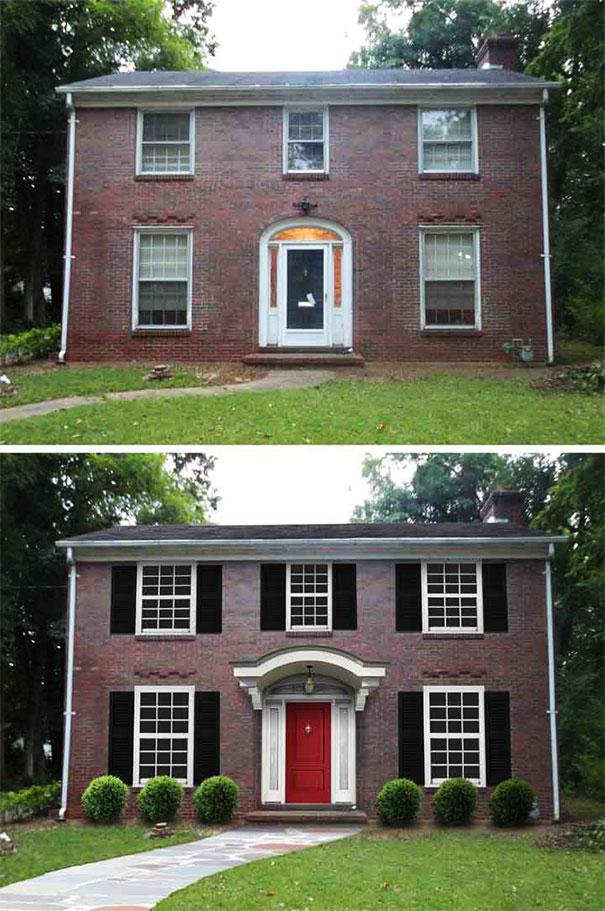 Dom ceglany z profilami elewacyjymi
