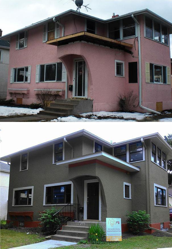 Dom przed remeontem i po