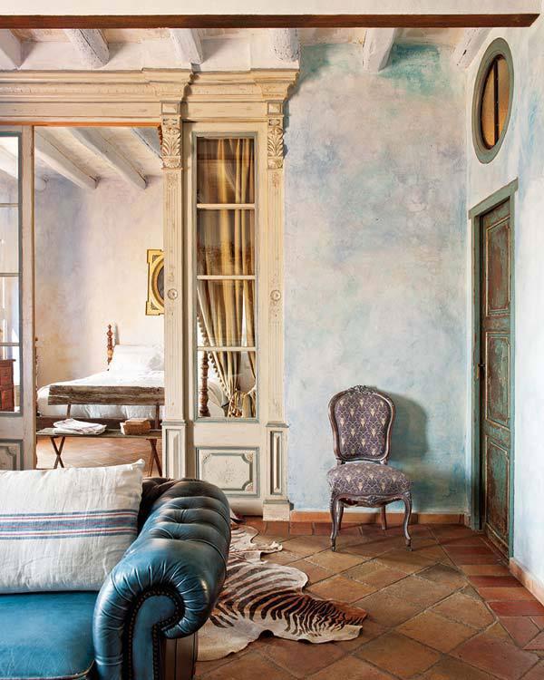 Wnętrze w rustykalnym stylu