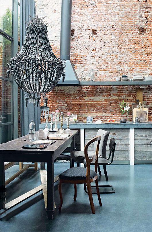 Kuchnia z elementami rustykalnego stylu