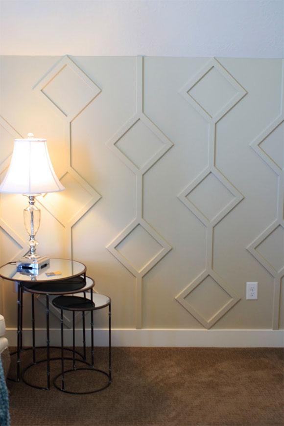 Geometryczny wzór z listew dekoracyjnych