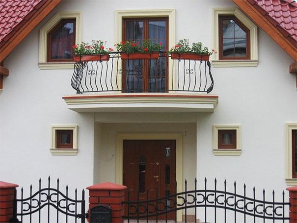 Balkon pełniący funkcję reprezentacyjną