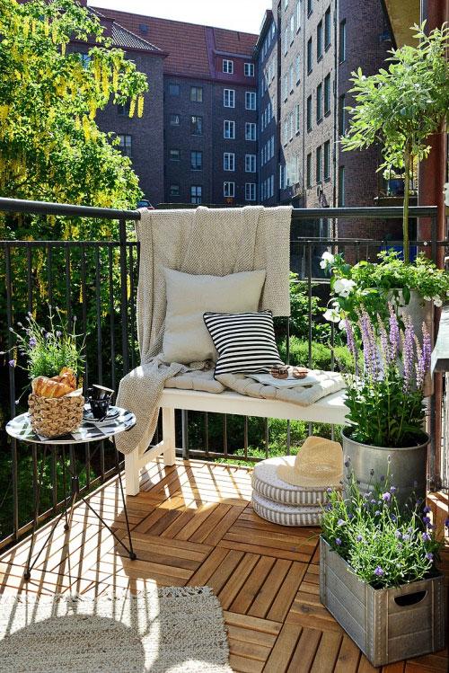 Balkon jako strefa relaksu