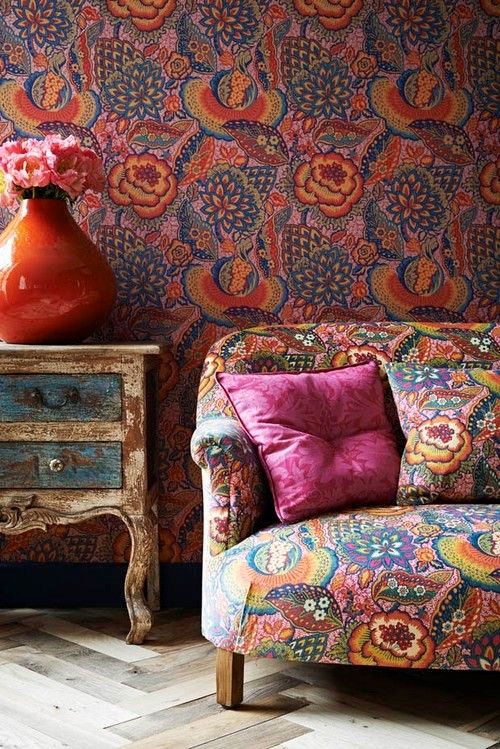 Szale stwo barw wn trza w stylu bohemy for Muebles hippies