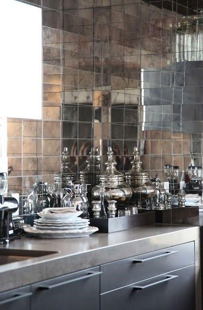 Kafelki lustrzane w kuchni